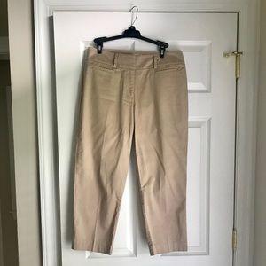 Loft Curvy Crop Pants - Khaki